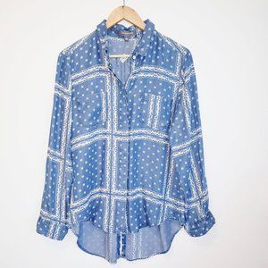3for30$ blue and white button-down soft shirt